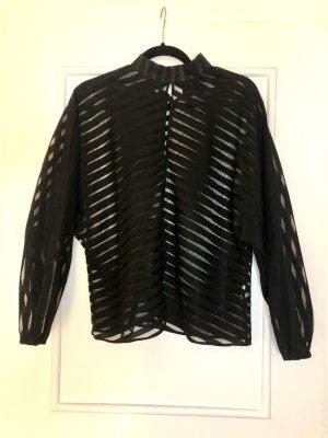 Schwarze Bluse mit Streifen