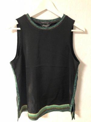 schwarze Bluse mit Strickbündchen von Madison Scotch