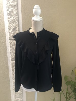 Schwarze Bluse mit Volants