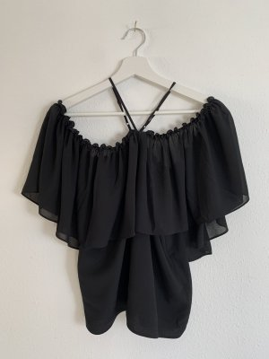 NA-KD Silk Blouse black