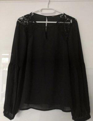 Schwarze Bluse/oberteil mit spitze