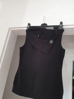 schwarze Bluse, schulterfrei