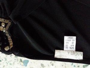 Schwarze   Bluse Shirt  von Mona mit Wasserfall Ausschnitt  gr22 (44)