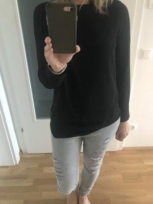 Schwarze Bluse, Shirt von OUI Gr 38