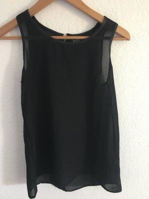 Schwarze Bluse transparent Gr. 38