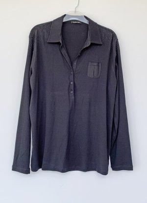 Margittes Long Sleeve Blouse black cotton