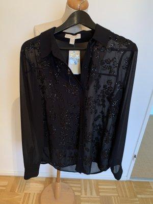 Schwarze Bluse von Michael Kors, Gr. L