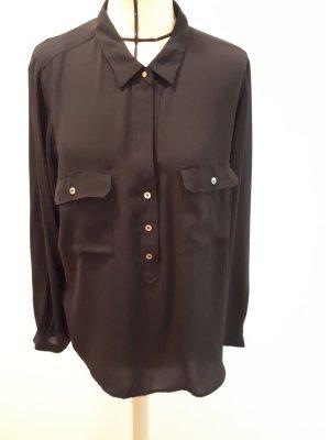 Schwarze Bluse von Violeta by Mango