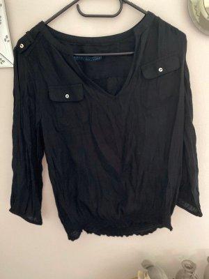 Schwarze Bluse von Zara, Gr. XS