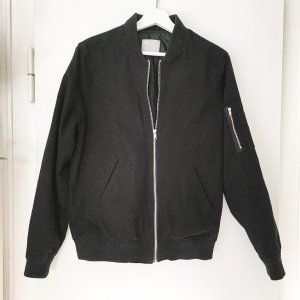 Asos Bomber Jacket black cotton