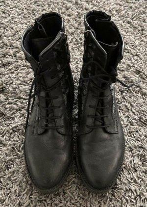 Tamaris Low boot noir-argenté tissu mixte