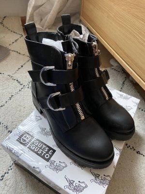 Guts&Gusto Botines Chelsea negro-color plata