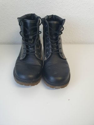 schwarze Boots/Stiefel