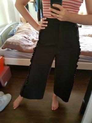 Schwarze breit geschnittene Hose &other stories