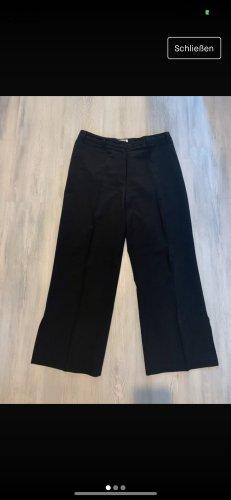 Schwarze Breitgeschnittene Hose