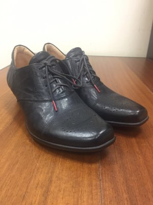 Think! Wingtip Shoes black leather