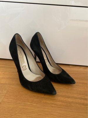 Schwarze Buffalo high heels aus Rauleder