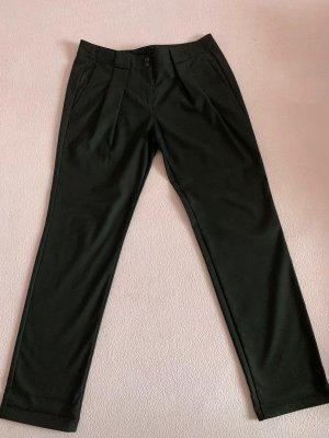 Sisley Pantalón de pinza negro tejido mezclado