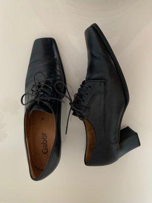 Schwarze Business Schnürer Schuhe von Gabor
