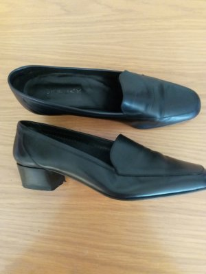 Made in Italy Slippers black leather