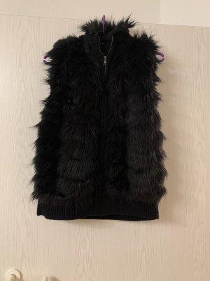 C&A Fake Fur Vest black