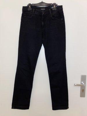 Calvin Klein Jeans Jeansy z prostymi nogawkami czarny