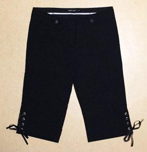 schwarze Caprihose, low waist, Gr. 36