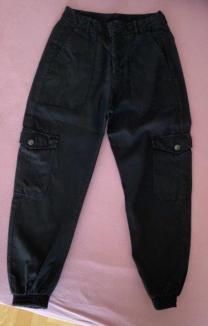 Pull & Bear Pantalon cargo noir