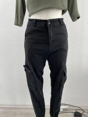 Pantalon cargo noir-gris anthracite