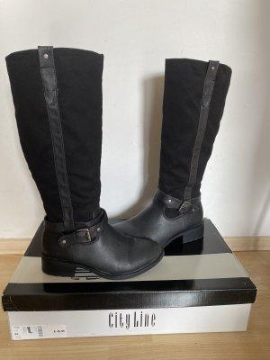 Schwarze CityLine Stiefel Gr. 38 in OVP