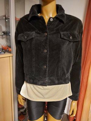 schwarze Cord Jacke Größe 36/38