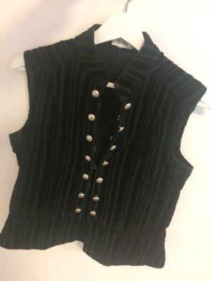 Smanicato jeans nero-argento Cotone