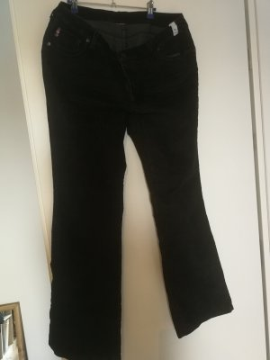 Corduroy Trousers black cotton