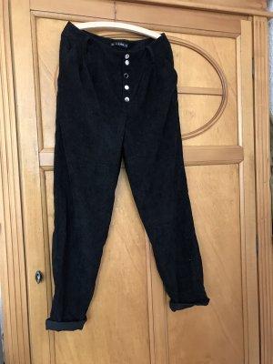 Zaful Pantalón de pana negro
