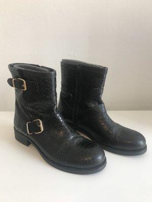 Billi Bi Bottillons noir-doré cuir