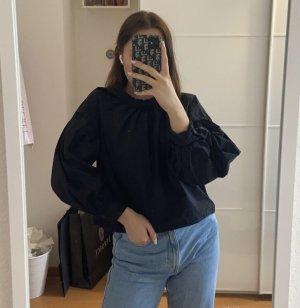 schwarze Cropped Bluse von Zara