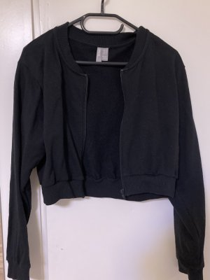 Schwarze Cropped- Jacke