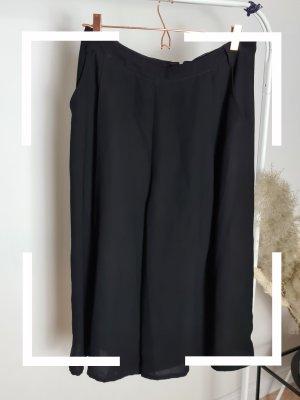 Asos Falda pantalón de pernera ancha negro