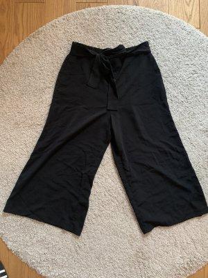 Zara Falda pantalón de pernera ancha negro