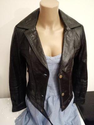 schwarze Damen Lederjacke aus Argentinien Größe M