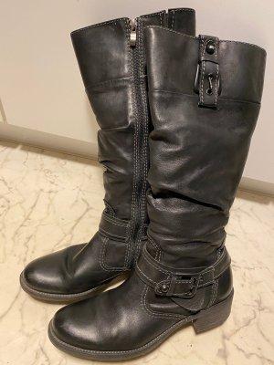 Schwarze Damen Stiefel - Leder