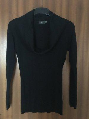 Schwarze Damen Winter Bluse Gr. M