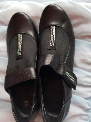 Schwarze Damenschuhe/Boots Mit Strass Gr. 39 NEU