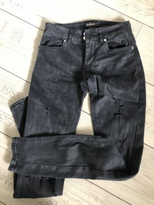 Schwarze Destroyed Jeans