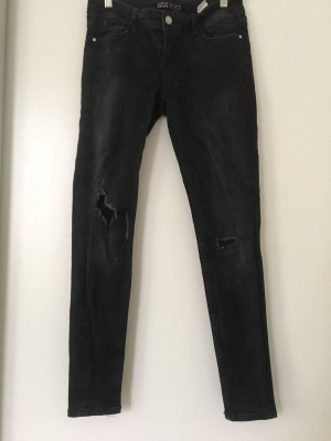 Schwarze destroyed Skinny Jeans