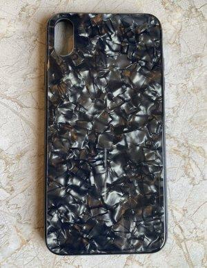 Schwarze Diamond Hülle Case Schutz für iPhone XS Max