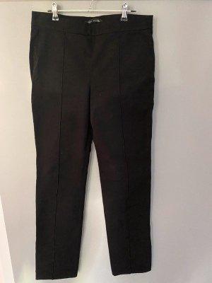 Schwarze dickere Stoffhose / Winterhose von Zara Woman, Gr. L