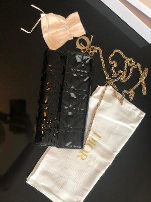 Christian Dior Bolso de mano negro tejido mezclado