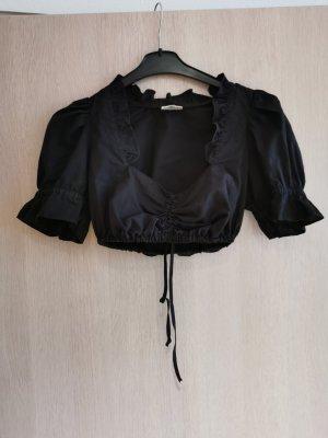 Country Line Blusa tradizionale nero Cotone