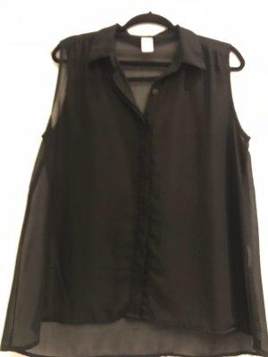Schwarze dünne Bluse